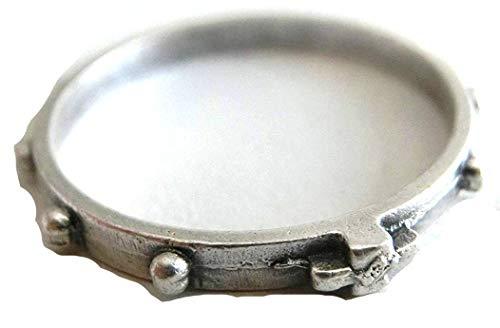 90.112.30 Rosary Finger Ring, Diameter: 18 mm, Silver