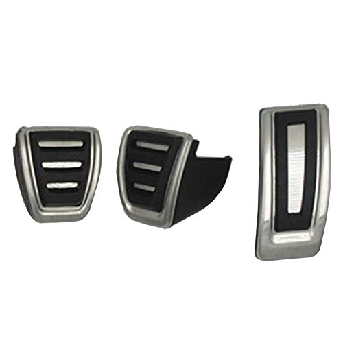 OPIZKLJ Accesorios de Coche de Pedal de Coche de Acero Inoxidable, para VW Golf 7, para Seat Leon 5F MK3, para Skoda Octavia A7