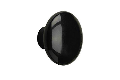 Metafranc Möbelknopf Ø 40 mm - schwarz - Hochwertige Verarbeitung - Formschön & dekorativ - Inkl. Montagematerial / Zierbeschlag / Möbelbeschlag / Möbelknauf / 100331
