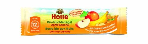 Holle Bio-Früchteriegel Apfel-Banane, 10er Pack (10 x 25 g)