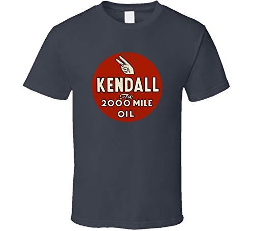 Kendall The 200 Oil Vintage Motor Oil Logo Cool Fan Mechanic Gift Worn Look T Shirt XL Charcoal Grey