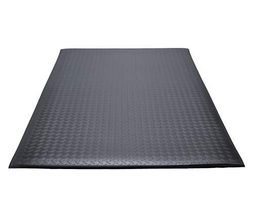 Guardian 24030501DIAM Soft Step Supreme Anti-Fatigue Floor Mat, Diamond Textured, Vinyl, 3'x5', Black
