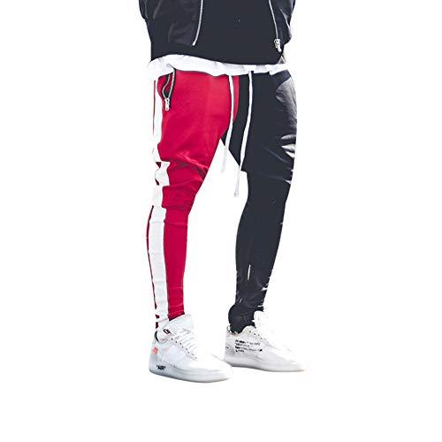 SANFASHION Herren Hose Stripe Pants Jogginghose Sport Fitness Trainingshose Slim Fit Sweatpants Jogging-Hose Trainingshose Jogger Fitness Sport Joggerhose Stoffhose