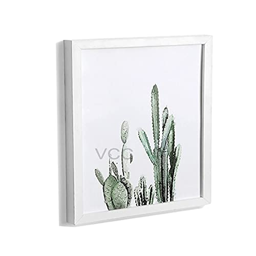 JSJJRGB Fotolijst Houten Fotolijst Klassieke Vierkante Desktop Poster Fotolijst Voor Hung Aan De Muur Pleixglass Binnen Home Decor (Kleur: Fotolijst, Maat: 35X35cm Placeable)