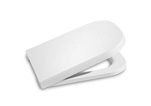 Roca A801470004 The Gap Standard - Tapa y asiento para inodoro, distancia entre los orificios de anclaje: 16 cm, Blanco, 453.5 x 350 x 35 mm