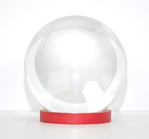 FLIXI KRISTALLKUGEL mit Ständer - aus Glas mit Ø 15cm