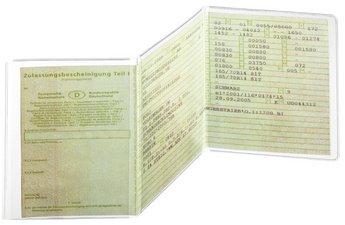Ausweishülle KFZ-Schein 3-teilig 105x210mm,PP 180my,dokumentenecht (6, KFZ-Schein 3-teilig | 105x210mm)