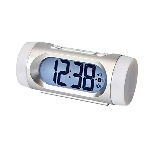 YXYL Despertador de Dibujos Animados Reloj electrónico LCD Vibración Alarma Sonido Reloj de Alarma Ajustable Reloj Digital
