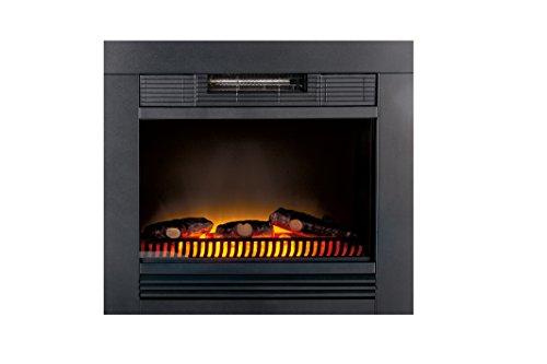 Classic Fire 'Chicago' - Elektrokamin mit Heizlüfter und Kaminfeuer Effekt - 1800W