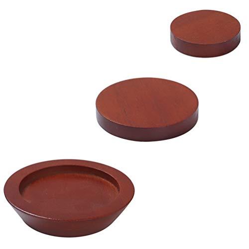 VOSAREA 3Pcs Möbel Fußerhöhung Beine Bettmöbel Riser Sofa Anti-Rutsch-Aufzüge Holzstuhl Bein Kissen Universalmöbel Polsterblock Heimversorgung