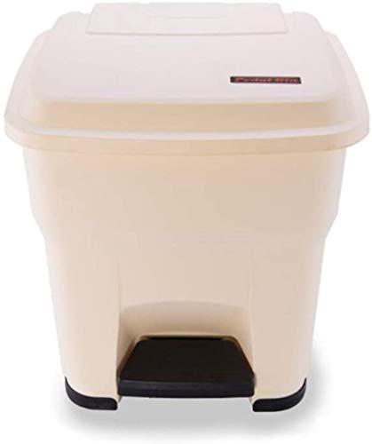 De vuilnisbakken buiten prullenbak plastic afval kunnen grote medische hergebruik afval opbergbakken Compost veelkleurige papieren optionele 30L / 55L papiermanden, Lengte: 15,56 * 26inch, Kleur: Geel