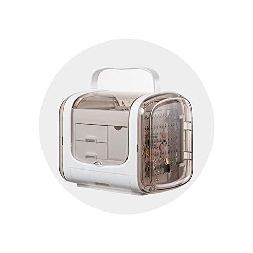 Joyero Pendiente Collar de uñas Accesorio para el Cabello Caja de Almacenamiento con Clip Caja de Almacenamiento de Gran Capacidad Exquisita de Lujo de Alta Gama