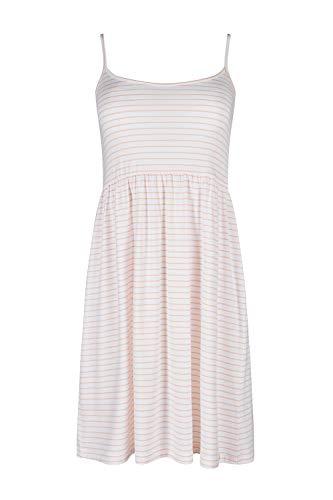 Skiny Damen Modern Nomad Sleep Spaghettisleepshirt Nachthemd, Mehrfarbig (Apricot Stripes 1917), 36 EU