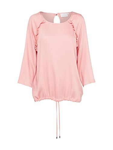 KAFFE Damen Bluse Ginger Farbe Rosa Frühjahr Sommer Rundhalsausschnitt (36)