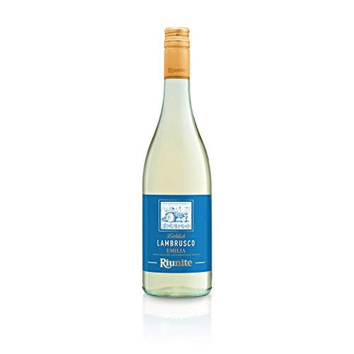 Lambrusco bianco RIUNITE dolce Dell`Emilia DOC 0,75 L - Vino Frizzante - Weißer Süßer Perlwein 7,5 % Vol. aus Italien