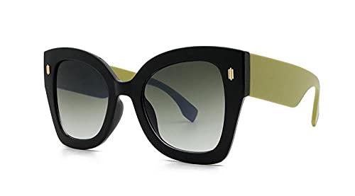 U/N Gafas de Sol Negras Vintage para Mujer, Gafas de Sol de Moda para Mujer, Lentes con gradiente Negro, Gafas-3