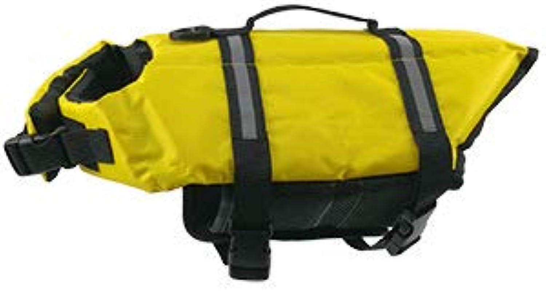 Pet Lifejacket Reflective Outdoor Clothing Small and MediumSized Dog Safety Clothing Pattern Dog,Yellow,XXS