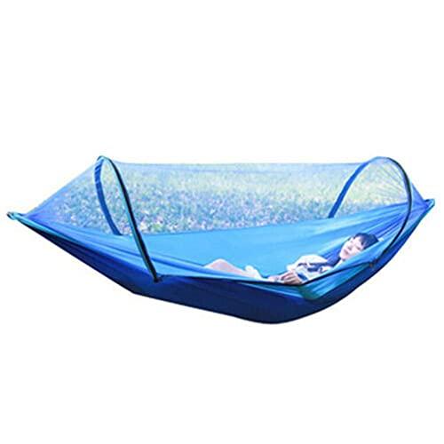 Columpio de hamaca al aire libre con mosquitero 210T de nylon e hilo de cuenta cifrado para el ocio familiar, salida de camping