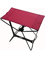 Homecall - Taburete de camping plegable (rojo)