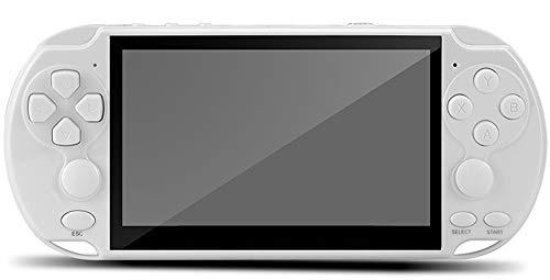 5.1'LCD X9 Plus Double Rocker 16G Handheld Retro Game Player Console Video MP5 TF Card para GBA/NES 10000 Juegos Regalos De Cumpleaños para Niños, Blanco