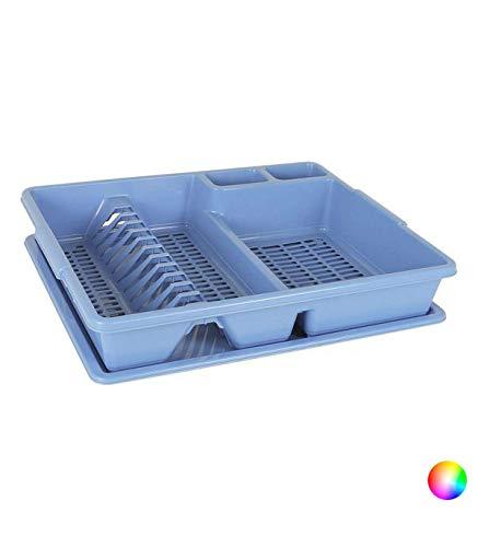 Tontarelli BIG-S2201024 Scolapasta da Lavandino (47 x 38 x 8,5 cm) Azzurro, Plastica