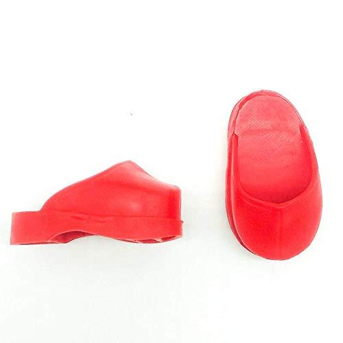 Folk Artesanía Par Zapatos Zueco para muñecas Tipo Nancy clásica Famosa, Sintra, Noa. Nuevos y Fabricados en España (Negro)