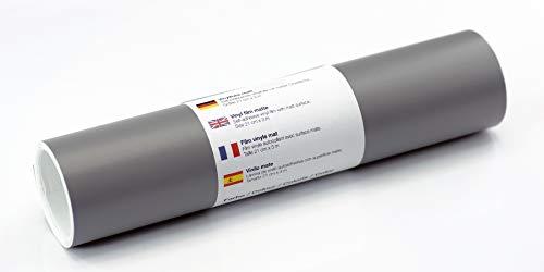 Selbstklebende Wandtattoo-/ Plotterfolie Vinylfolie matt 21 cm x 3 m, Farbe:Grau
