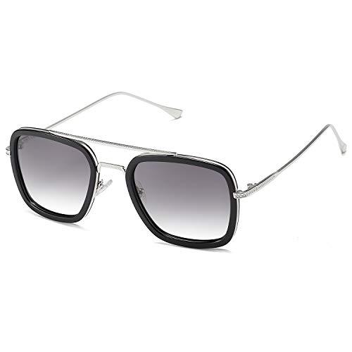 Si réel Lunettes de soleil lunettes style nerd retrobrille polarisé fashion vintage