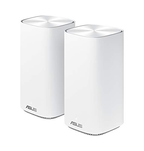 ASUS Zenwifi mini CD6 AC1500 Whole-Home Mesh WiFi System – Coverage up to 5,000 Sq. ft.   5+ rooms, life-time free network security & parental controls, 3 steps easy setup, 3 SSIDs 2 pack, white
