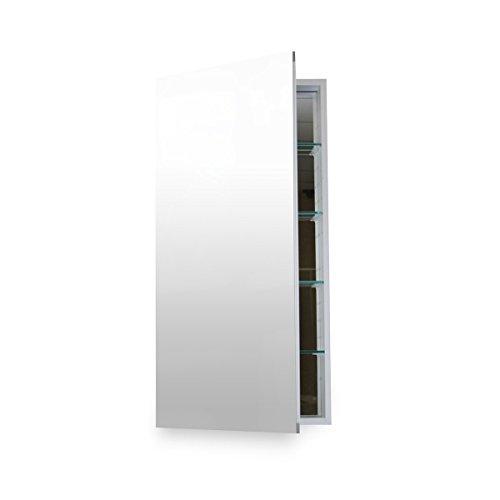 Lupenrein Badezimmer MC 1236Medizinschrank mit Blum Softclose Tür Scharniere, 30,5x 91,4cm aus eloxiertem Aluminium