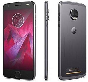 Motorola Moto Z2 Play XT1710 (64GB) Dual SIM GSM Factory Unlocked US & Global 4G LTE Bands - Dark Gray