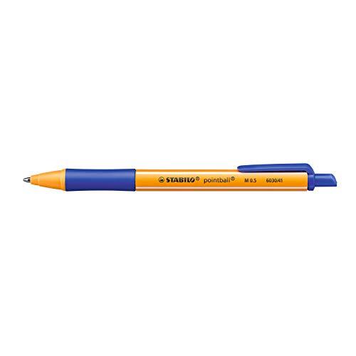 Druck-Kugelschreiber - STABILO pointball - Einzelstift - blau