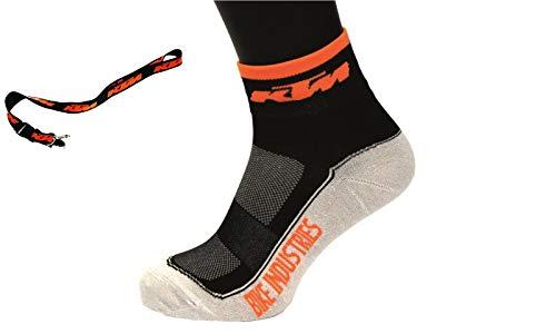 KTM 1 Paar Bike Qualitäts Socken - Factory Line - Gr. 44-47 + Schlüsselband