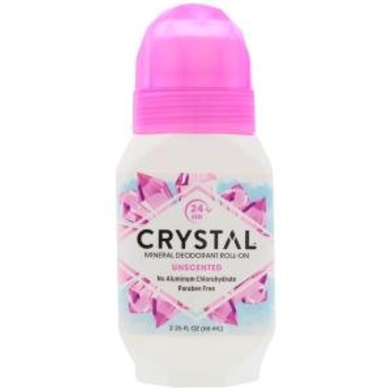 ナラーバー作物共感する[海外直送品] クリスタルボディデオドラント(Crystal Body Deodorant) ロールオン(無香料) 66ml
