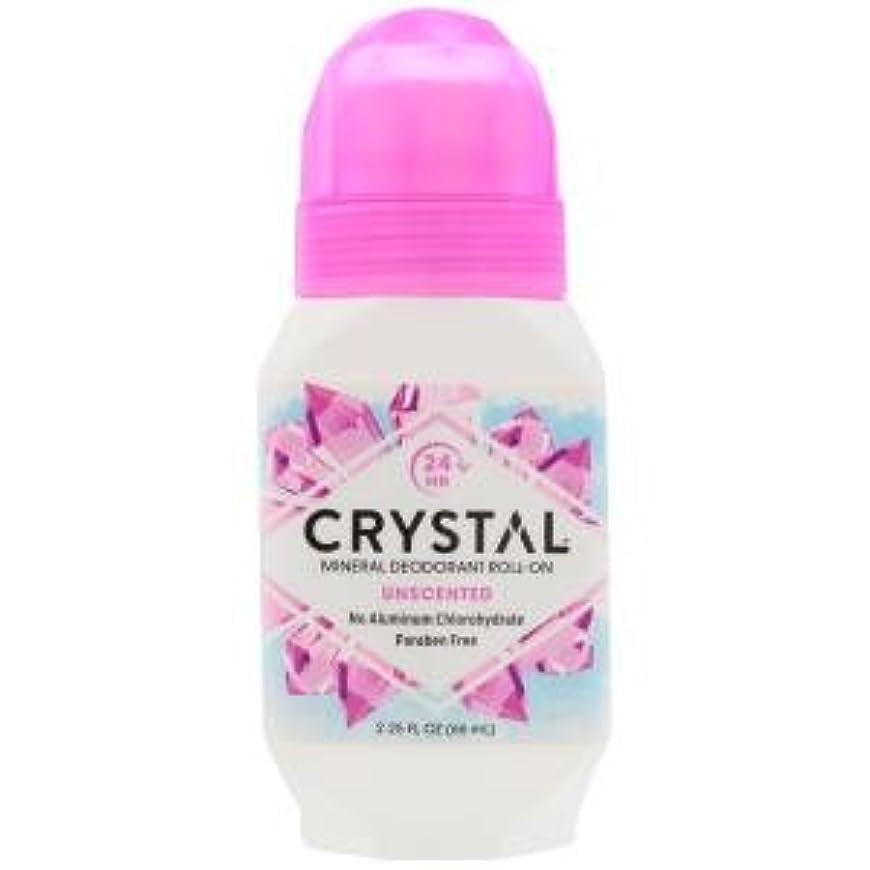 安らぎ驚かす池[海外直送品] クリスタルボディデオドラント(Crystal Body Deodorant) ロールオン(無香料) 66ml