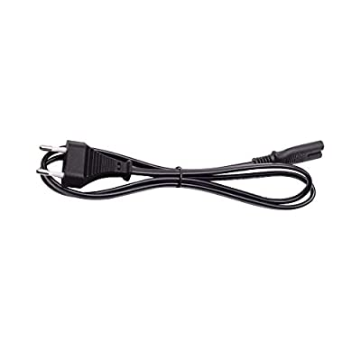 AJP 2 Pin Mains Euro/EU Power Socket Cable Fig.8 C7 AC Cable 1 Meter Compatible with Sony PlayStation 2/3/4 (PS2/PS3/PS4), Xbox One X, Xbox 1s, Slim Edition Black Power Lead/Cord Quick Dispatch