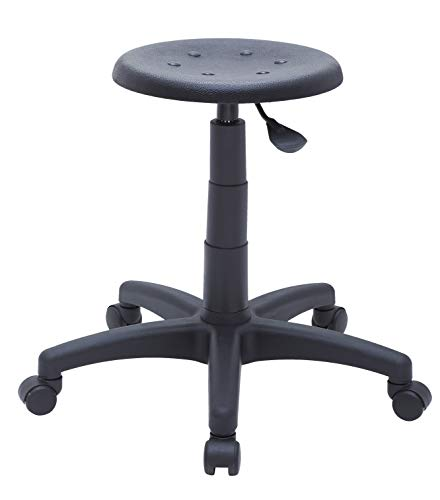 Laborhocker, Laborstuhl, Werkstattstuh, Arbeitshocker, Rollhocker, Werkstatthocker, mit höhenverstellbarer Sitzhöhe - Snap Seateca