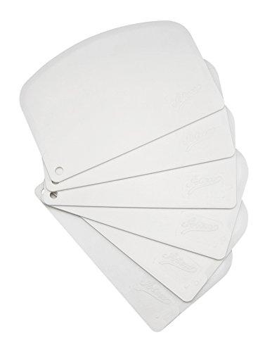 Ateco Bowl Scraper Set, 6-Pieces, Flexible Food-safe Plastic