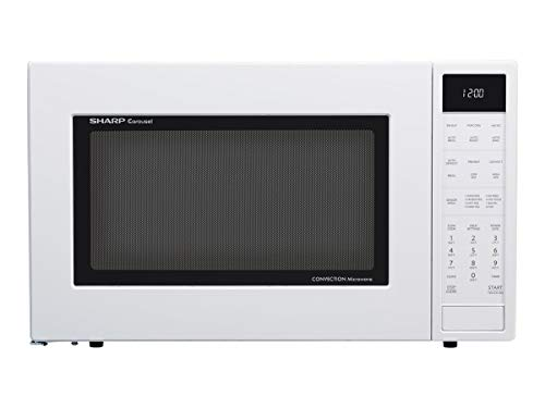 Sharp SMC1585BW Carousel 1.5 Cubic Foot 900W Kitchen Countertop Convection Microwave Oven, White...
