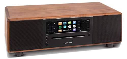 sonoro Prestige Kompaktanlage mit CD-Player, Internetradio und Bluetooth 2020 - Walnuss/Anthrazit