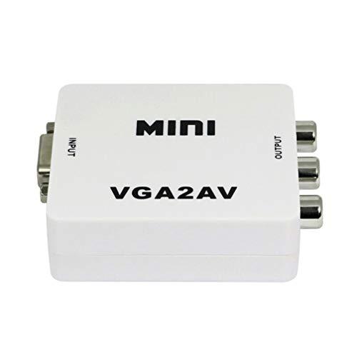 SOLUSTRE 2 Piezas 1080P Mini VGA a AV RCA Convertidor Ordenador a...