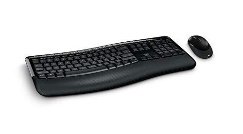 Wireless Comfort Desktop 5050 (Set mit Maus und Tastatur, deutsches QWERTZ Tastaturlayout, schwarz, kabellos)