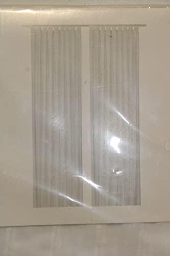 Ikea, set di 2tende Matilda sottili ma oscuranti; con occhielli; dimensioni: 300 cmx 140cm; in 100% cotone, colore: bianco bianco