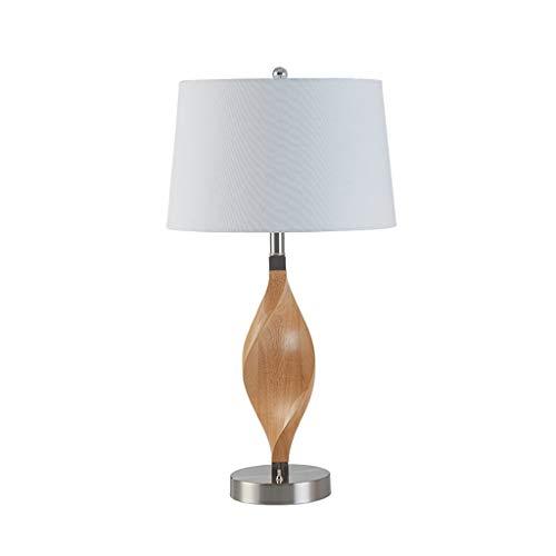 YANQING duurzame tafellampen bureau lampen Europese massief hout buigen nachtkastje tafellamp, hotel studie ronde doek schaduw lamp bureau lamp, desktop leeslampje (Maat: M), kleur: S