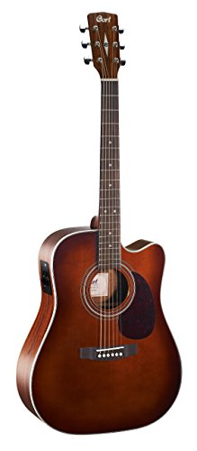 Cort 6 String Acoustic-Electric Guitar, Right Handed, Brown (MR500E BR)
