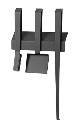 TermaTech Kaminbesteck EDGE III, 3-teilig, wandhängend, Stahl, schwarz beschichtet