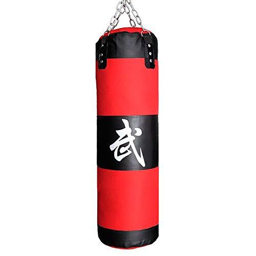 WILK Soporte Boxsack Punchingsäcke Ungefüllte Hängende Boxsack mit Montagekette für Boxtraining Sandsack Kampfsport für Boxtraining Fitness Sandsack