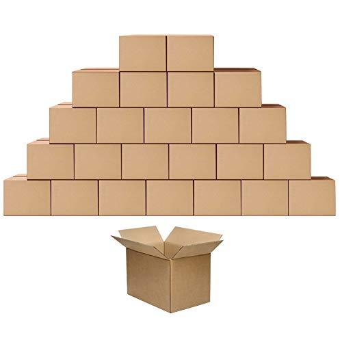 Eono par Amazon - Lot de 25Boîte en carton Kraft pour l'expédition Emballage colis Cadeau Noël, 254x177x127mm