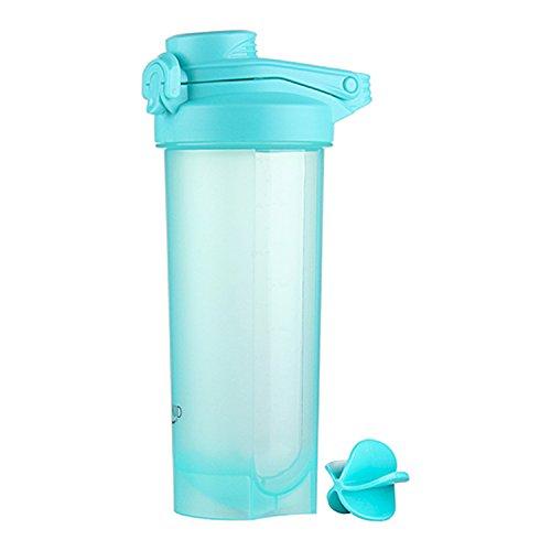 700 ml Proteína Shaker Botella con Bola Mezcladora, Botella de Agua, Proteína Coctelera Botella, Shaker Botella para Batidos Proteínicos, Bebidas de Fitness, Smoothies (Azul)