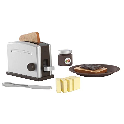 KidKraft Espresso Toaster Play Set, Gift for Ages 3+